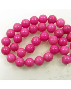 Mashan Jade (Dyed Light Purple) 12mm Round Beads