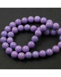 Mashan Jade (dyed Violet) 10mm Round Beads
