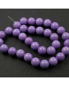 Mashan Jade (dyed Violet) 12mm Round Beads