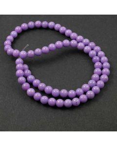 Mashan Jade (dyed Violet) 6mm Round Beads
