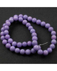 Mashan Jade (dyed Violet) 8mm Round Beads