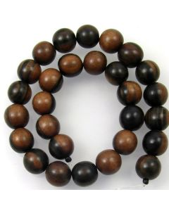 Tiger Kamagong approx. 15mm Round Beads
