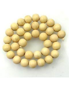 Natural White Wood 12mm Round Beads
