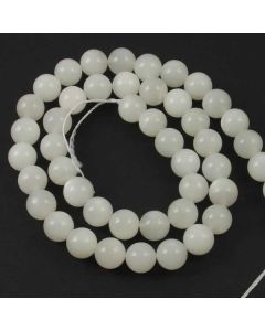 Moonstone WHITE 8.5mm Round Beads