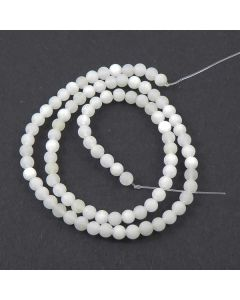 Frosted White Jade beads 6mm