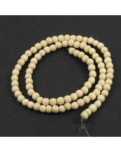 Natural White Wood 4/5mm Beads